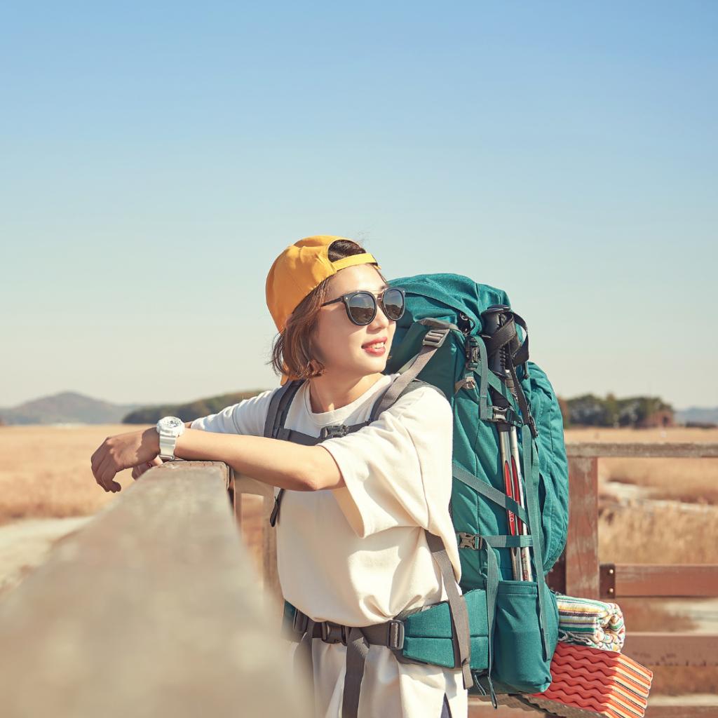 Solo Travel Girl Backpacker