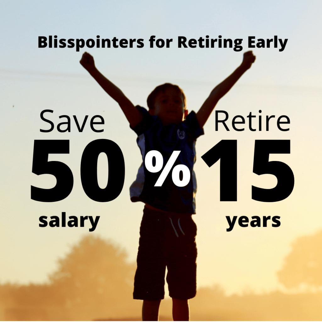 save 50% retire 15 years happy boy sunset